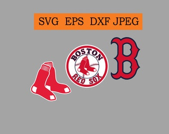 Boston Red Sox logo in SVG / Eps / Dxf / Jpg files INSTANT DOWNLOAD!