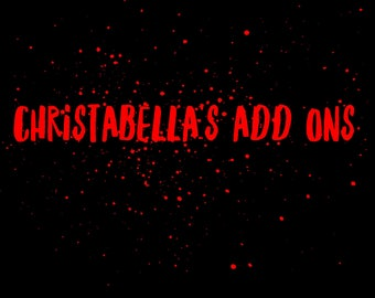 Christabella's add ons
