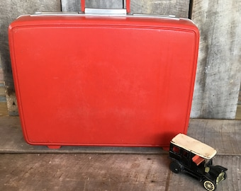 Red suitcase | Etsy