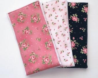 Vintage floral burp cloths
