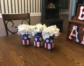 Patriotic jars -pint size