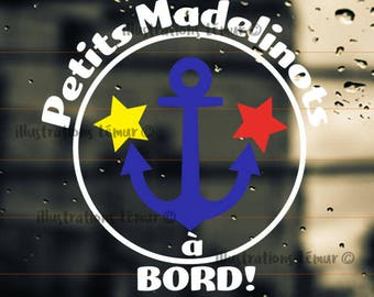 sticker vinyl-sticker windshield-acadien-baby on board--windshield sticker-vinyl-kid-gift-sticker for the family-Boat anchor
