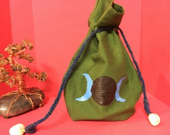 Handpainted coin/ medicine pouch