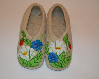 Slippers made of wool (felted Slippers)