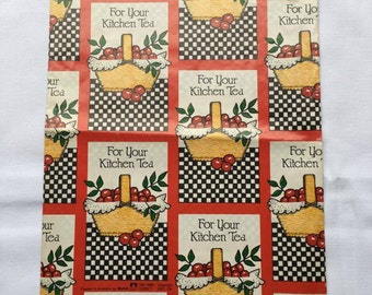 Vintage | Kitchen Tea | Wrapping Paper