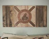 Rustic Wood Cape Breton Flag