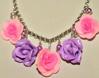 Necklace,gift,mother,craft,rose,handmade,ornament,for her,girl,hypoallergic, idea,romantic,boho, style,lovely,gorgeous,mother's day,elegant