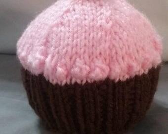 Hand knit cupcake