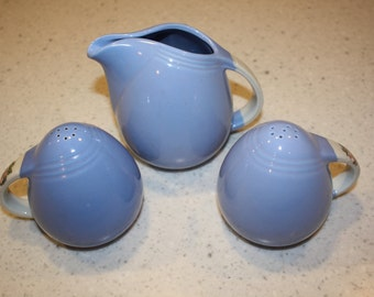 Hall salt and pepper shaker and creamer