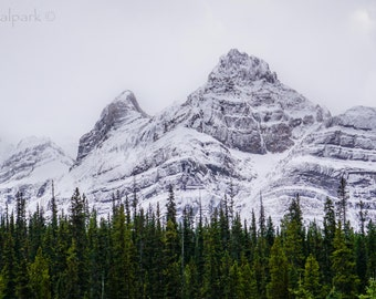 Snowy Mountain Fine Art Photography Print