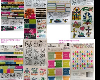 4 sets of BIBLE JOURNALING stickers