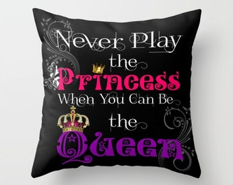 Quote Pillow, Black Pillow, Sayings Pillow, Couch Cushion, Sofa Cushion, Throw Pillow Cover, Pillow Case, Toss Pillow, Sofa Pillow, Cushion