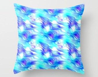 Blue Pillow, Blue Abstract Pillow, Pattern Pillow, Sofa Pillow, Accent Pillow, Throw Pillow Cover, Toss Pillow, Toss Cushion, Throw Cushion