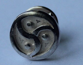 BDSM sterling silver pin badge