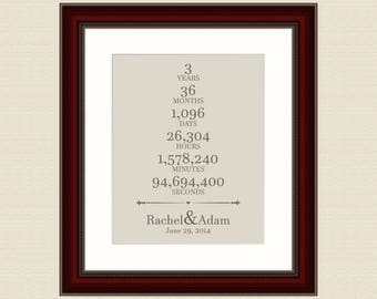 Wedding Gift For 44 Years : Three Year Anniversary 44 Year Wedding Anniversary Gift Wedding Name ...