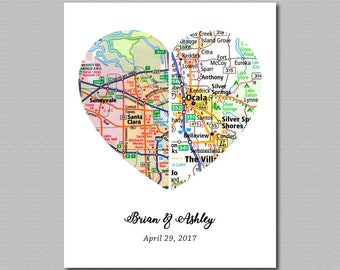 Home is Where the Heart is Sign Custom Atlas Quote Art Personalized Heart Atlas Unique New Home Housewarming Gift for Couple Gifts for Her