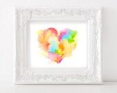 Heart Original Watercolor Print