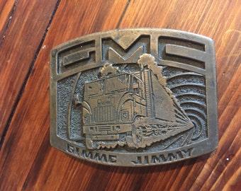 Gimme Jimmy GMC Belt Buckle Vintage