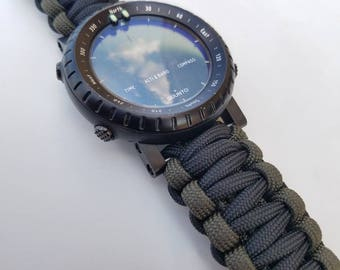 Universal Fit Standard Paracord Watch Band 550 Paracord  Two Paracord Watch Strap Standard Survival Band