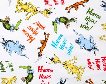 Dr Suess Horton Hears a Who Fabric - BTHY