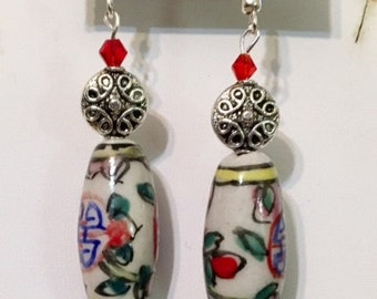 Chinese Influenced Drop Earrings