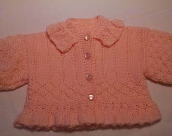 Handmade Peach baby sweater