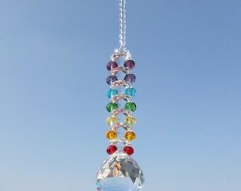 Chakra Suncatcher Hanging Window Crystals Rainbow Ladder Sun Catchers Lightcatcher 30cm