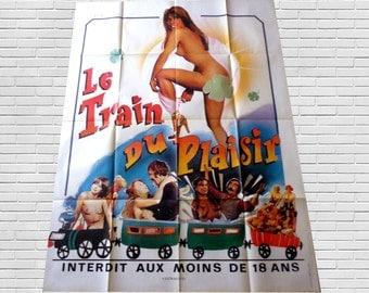 "VTG erotic cinema poster ""pleasure train"""