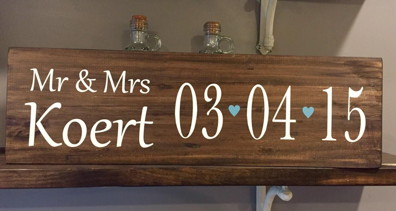 Mr Mrs Wedding Gifts: Wedding Signs /Wedding Gift Wooden Sign/ Mr. & Mrs