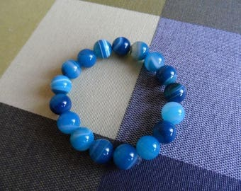 Genuine blue Agate bracelet