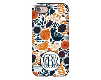 Monogram iPhone 7 case, birds and leaves iPhone 7 Plus case, iPhone SE/6s/6s Plus/6/6 Plus/5s/5 cases, 3D iPhone cases, iPhone cover