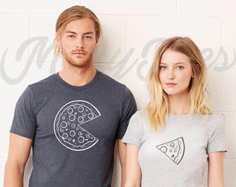 Couple t shirt couple tees pizza t shirt couple tshirts  funny matching couple shirts wedding gift anniversary gift pizza t shirts