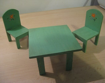 For the dollhouse ... an antique French kitchen table with two chairs ... 30 Years!