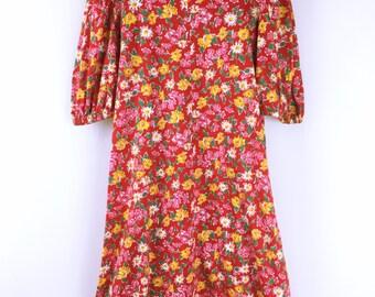 Yves Saint Laurent vintage Floral cotton dress