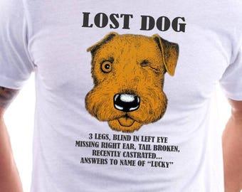 Lost Dog Shirt Funny Dog Shirt