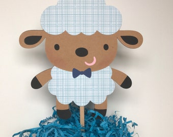 Lamb cake topper, lamb Centerpiece, lamb themed baby shower, lamb birthday party, farm animals cake topper,  baby shower centerpiece.