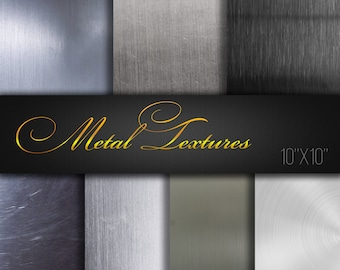 Digital scrapbooking / Metal Textures / Pack of 7 JPG files 300dpi / Invitation Supplies / Real Photos / Papers For Craft