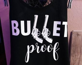 Bullet proof ladies gun tank top