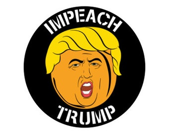 "Impeach Trump 1.25"" pinback button anti-trump"