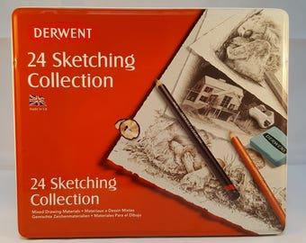 Derwent 24 Sketching Collection set- for beginners a complete drawing collection - an ideal introduction to the world of scketching- a gift