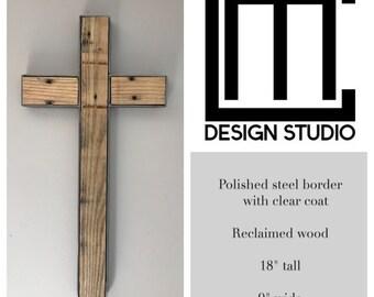 Steel and wood cross