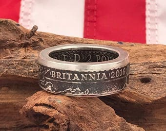 Silver Britannia 1oz .999 Silver Coin Ring