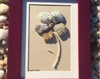 Sea Shell Flower - Sea Shell Art - Nautical and Coastal Decor