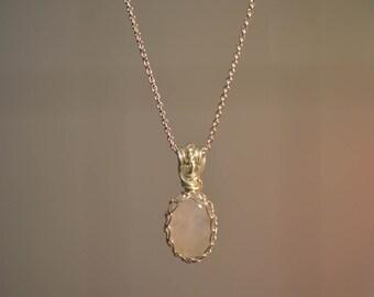 Rose Quartz charm 925 Silver