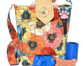Dog Treat Bag with Poop Bag Holder, Dog Trainer Bag With Poop Bag Dispenser, Dog Training Treat Bag, Cross Body Bag Dog Trainer Pouch
