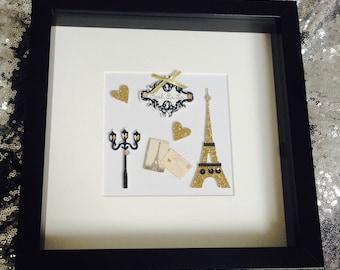 Paris In Love Frame, paris framed gift, Paris gift, framed gift, gift, Paris, Home Decor