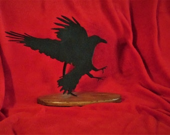 Raven, Crow, Metal Art, Hand Crafted, Bird, Executive, Gift
