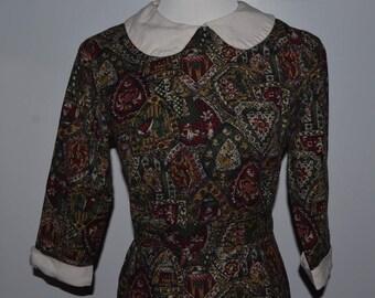 1960s Peter Pan Collar Dress | Vintage Mod Dress | Size XS-S