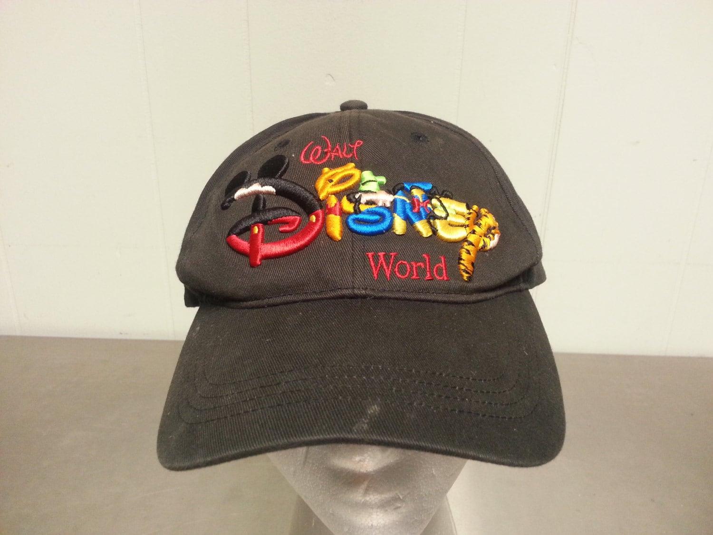 508bacbc1b0a7 Vintage 90 s Walt Disney World Mickey Mouse Winnie The Pooh Adjustable  Snapback Dad Hat Cartoons