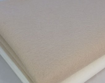 "100% Wool Felt Sheet in Color SAND BISCUIT- 8"" X 12"" Wool Felt Sheet - Merino Wool Felt - European Wool Felt"